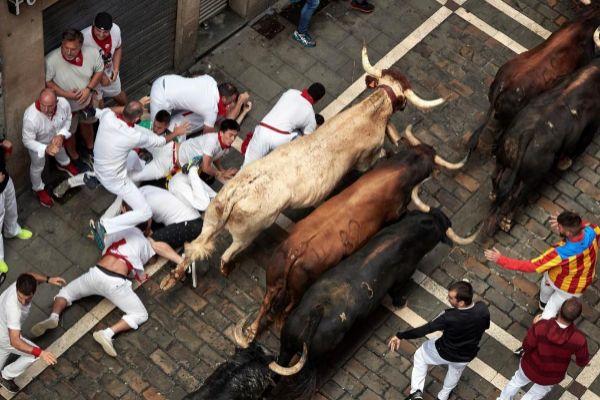 Los Cebada Gago, este lunes en Pamplona.