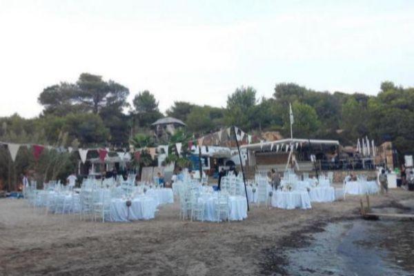 El chiringuito fue denunciado durante la celebración de una boda.