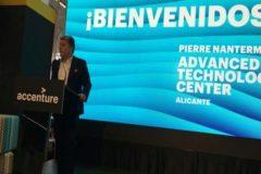 El presidente de Accenture, Juan Pedro Moreno, durante la presentación de la sede.