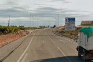 Nacional N-225 a su paso por Moncofa.