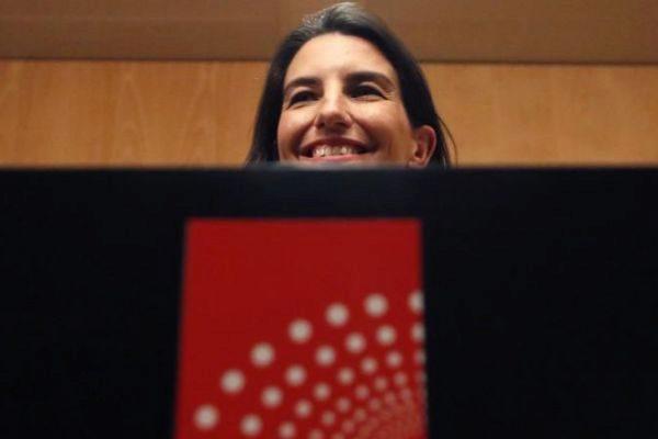 MADRID.- La portavoz de Vox en la Comunidad de Madrid, Rocío <HIT>Monasterio</HIT>, en rueda de prensa tras la primera reunión de la Junta de Portavoces de la XI legislatura en la Asamblea de Madrid.-