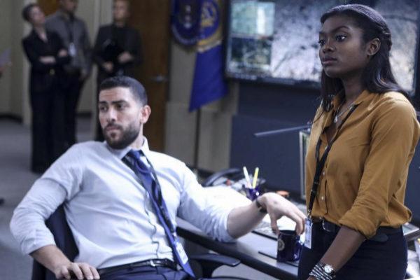Los actores Zeeko Zaki y Ebonee Noel, en la serie 'FBI'.