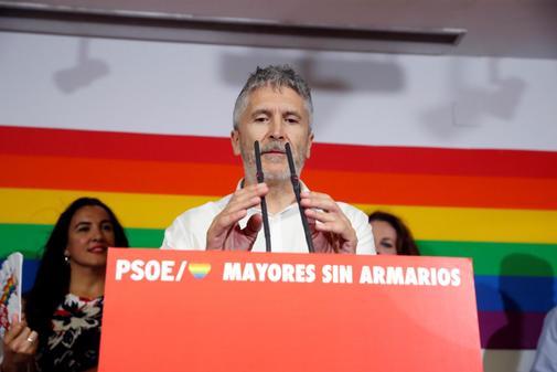 Fernando Grande-Marlaska, antes de la manifestación del Orgullo...