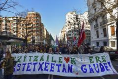 Una de las manifestaciones de los trabajadores de la concertada.