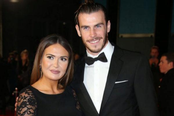 Gareth Bale y su ya esposa Emma Rhys-Jones en una imagen de archivo.