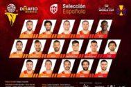 Lista de convocados de la selección