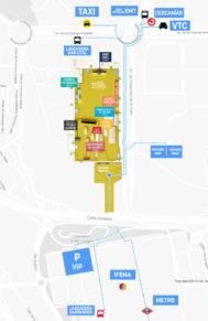 Mapa sobre dónde coger cada uno de los transportes.