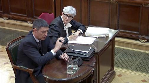 El mayor de los Mossos Josep Lluís Trapero, en su declaración en el juicio del 1-O el pasado 14 de marzo.