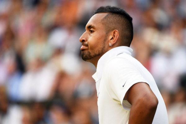 Wimbledon (United Kingdom).- Nick <HIT>Kyrgios</HIT> of Australia...