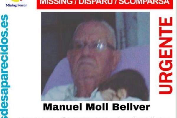 Cartel de búsqueda del anciano hallado muerto en Palma.