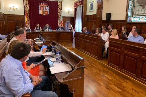 El primer pleno de la Diputación de Castellón ha aproabdo los sueldos.