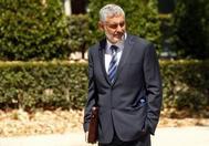 Rafael Redondo, socio del comisario José Manuel Villarejo, a su salida de la Audiencia Nacional, este martes.