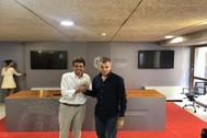 Carlos Mazón y Toni Cantó, tras alcanzar un pacto para la Diputación de Alicante a escasas horas de la investidura en los ayuntamientos.