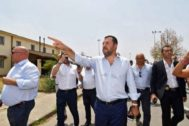 <HIT>Mineo</HIT> (catania) (Italy).- Italian Deputy Premier and Interior Minister Matteo Salvini (C) during his visit to the asylum seeker reception centre (CARA) at <HIT>Mineo</HIT>, near Catania, Sicily island, Italy, 09 July 2019. Salvini hailed the closure of the CARA at <HIT>Mineo</HIT>, saying that police probes had discovered the activity of 'mafias, not only Italian but also Nigerian', based at the CARA. 'They expanded as a drug dealing operation in the whole local area', he said. 'Now the CARA is closing and it is a beautiful morning'. (Italia) EPA/