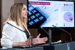 La consejera de Fomento, Marifrán Carazo, tras el Consejo de Gobierno de este martes.