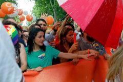 Miembros de Ciudadanos durante los disturbios en el Orgullo Gay