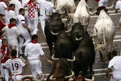 San Fermín: el enfado de los corredores con los de Jandilla