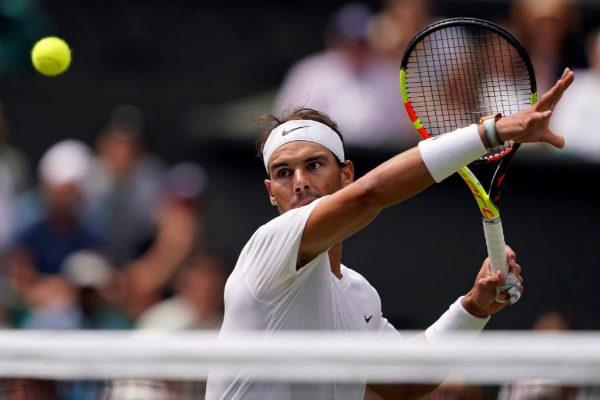 Rafa Nadal durante su anterior partido en Wimbledon