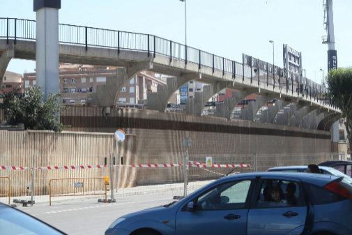 Obras en el estadio Castalia.
