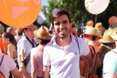 Enrique López, militante de Cs, antes de los disturbios en el Orgullo Gay