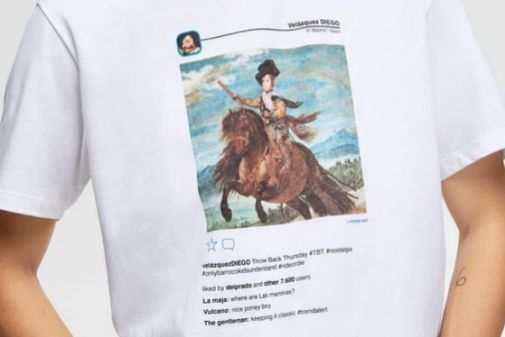 Una imagen del catálogo de Zara de la camiseta.