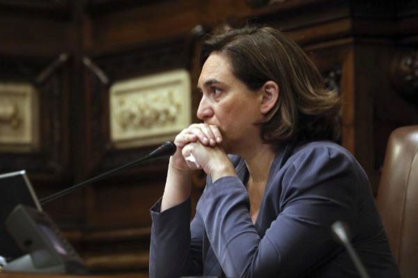 Antonio Moreno 12.06.2019 Barcelona Cataluña.La alcaldesa Ada <HIT>Colau</HIT> en el ultimo Pleno del Ayuntamiento de Barcelona.