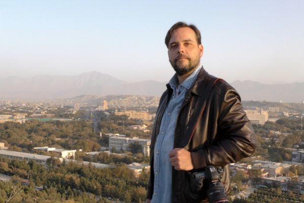 Amador Guallar, en la colina de Wazir Akbar Khan, en Kabul.