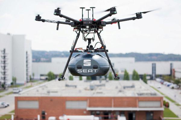Drones para llevar piezas a la fábrica de Seat Martorell