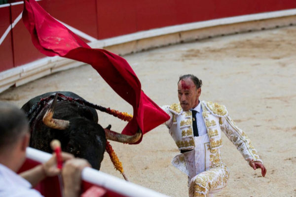 Pepín Liria en la pasada Feria de San Fermín.