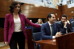 Ayuso recrimina a Cs y Vox que bloqueen el Gobierno de Madrid