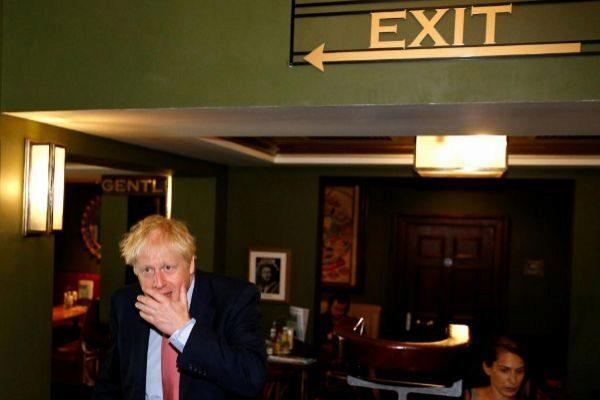El candidato a liderar a los 'tories' Boris Johnson, este miércoles en Londres.