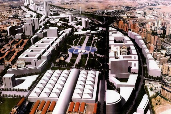Recreación del resultado final del proyecto de Madrid Nuevo Norte en Chamartín.