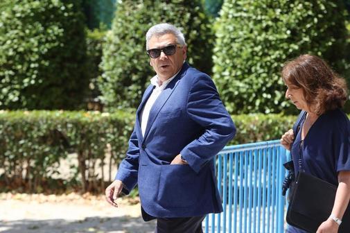 El ex jefe de seguridad de BBVA, Julio Corrochano, a su salida de la Audiencia Nacional, el pasado 5 de julio.