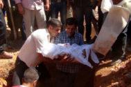 Entierro de Aylan Kurdi.