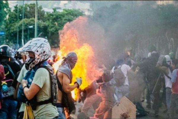 Imagen de la protesta compartida por el fiscal general de Venezuela. | TWITTER
