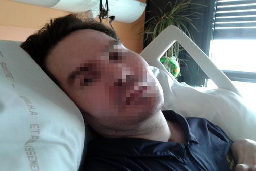 Imgane de junio de 2015 de Vicent Lambert, hospitalizado en Reims.