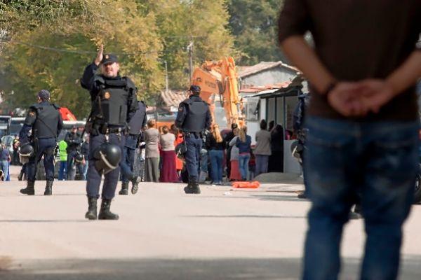 Redada de la Policía Nacional.