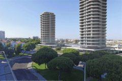 Recreación del proyecto de torres en Punta Umbría.