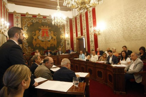 Intervención del portavoz de Vox, Mario Ortolá, en el pleno de este jueves.