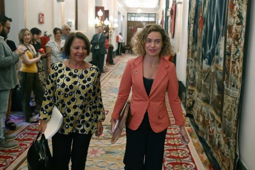La presidenta del Congreso de los Diputados Meritxell Batet, a su llegada a la reunión de la Mesa del Congreso.