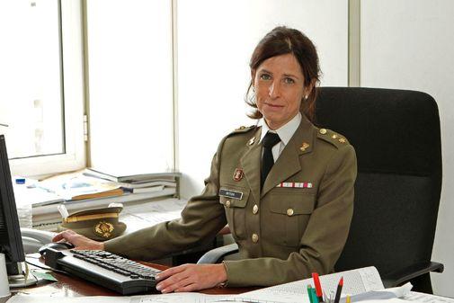 La coronel Patricia Ortega, el pasado mes de noviembre.