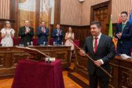 Francisco Reyes en su toma de posesión como presidente de la Diputación de Jaén.