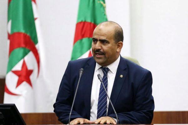 El nuevo presidente del Parlamento argelino, Sliman Chenin, ofrece su primer discurso, el miércoles en Argel.