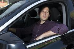 Vicente Pascual, CEO de Cabify, en un coche de Cabify.