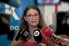 La vicepresidenta del Consell, Mónica Oltra, durante una rueda de prensa.