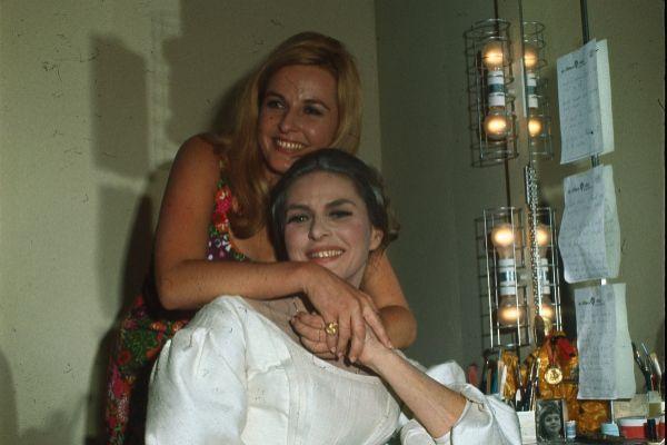 Pia Lindström junto a su madre, Ingrid Bergman
