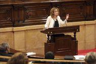 Antonio Moreno 26.06.2019 Barcelona Cataluña.La consellera de Justicia Ester <HIT>Capella</HIT> en el pleno de control al Govern en el Parlament.