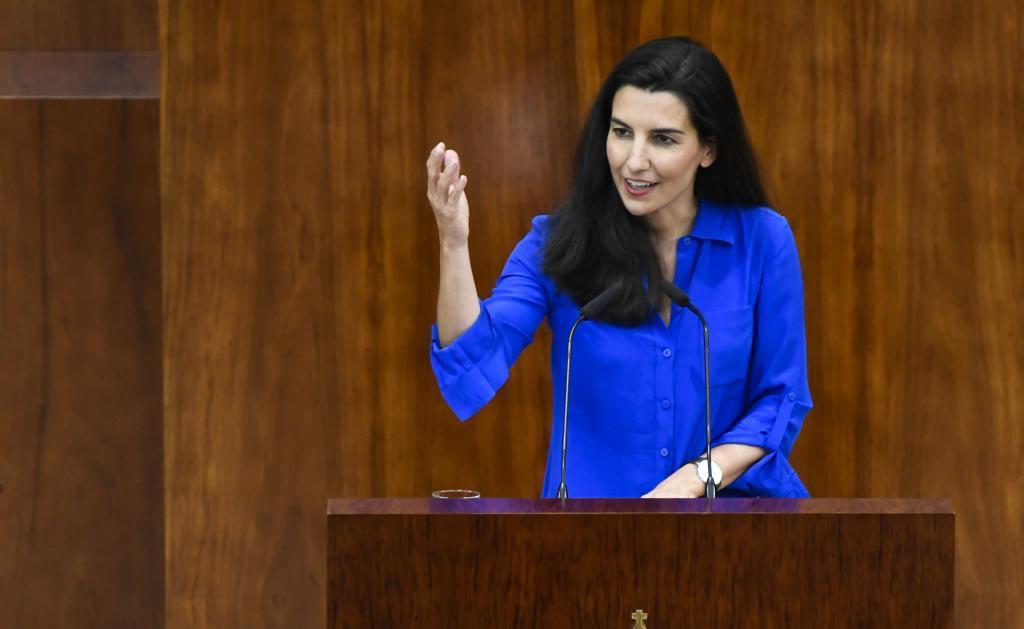 Rocío Monasterio, portavoz de Vox, en la Asamblea.