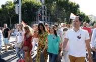 Inés Arrimadas y otros miembros de Ciudadanos el día del desfile del Orgullo.