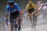 Mikel Landa y Alaphilippe, durante la sexta etapa.